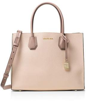 MICHAEL Michael Kors Studio Mercer Convertible Color Block Large Leather Tote - BLUSH/GOLD - STYLE
