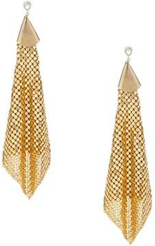 Ettika Women's Mesh Chain Statement Earrings