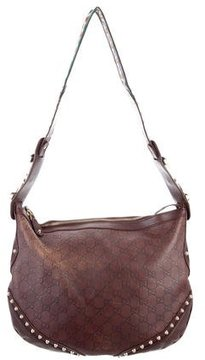 Gucci Medium Guccissima Pelham Hobo - BROWN - STYLE
