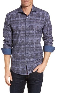 Bugatchi Men's Shaped Fit Abstract Print Sport Shirt