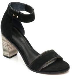 Bernardo Hayden Suede Pattern Heel Sandals