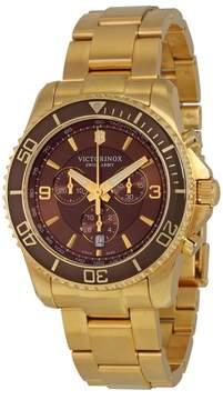 Victorinox Maverick 241691 Gold PVD Stainless Steel 43mm Watch
