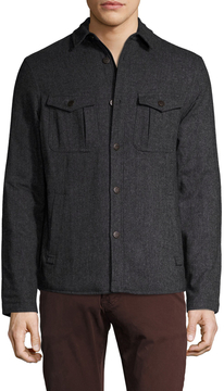 Gilded Age Men's Wool Tweed Shirt Jacket