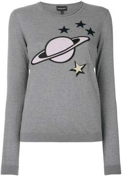 Emporio Armani embroidered planet sweater