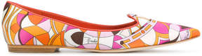 Emilio Pucci printed point-toe slippers