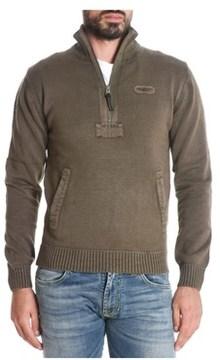 Aeronautica Militare Men's Green Cotton Sweatshirt.