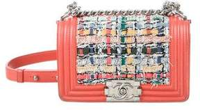 Chanel Tweed Small Boy Bag