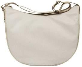 Borbonese Women's Beige Pvc Shoulder Bag.