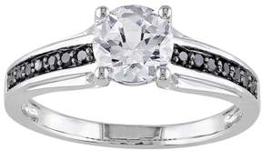 Black Diamond Kohl's Lab-Created White Sapphire & Engagement Ring in Sterling Silver (.14 ct. T.W.)