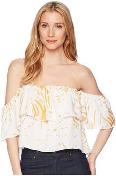 Bishop + Young Riviera Off Shoulder Crop Top Women's Clothing