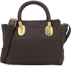 Cole Haan Benson II Woven Small Square Tote Bag, Brown