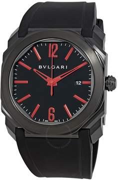 Bvlgari Octo Ultranero Black Dial Automatic Men's Watch