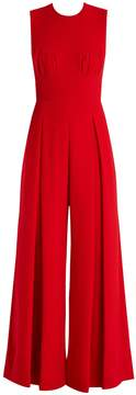 Emilia Wickstead Ethel wide-leg wool-crepe jumpsuit