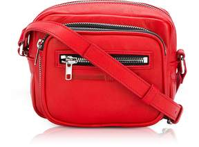 McQ Loveless Riot Red Smooth Leather Crossbody Camera Bag