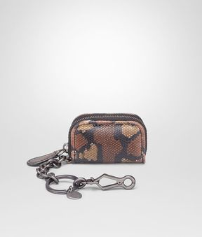 Bottega Veneta Dark Calvados Karung Key Ring
