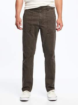 Old Navy Straight Built-In Flex Canvas Utility Pants for Men