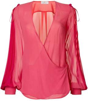 Capucci V-neck flared blouse