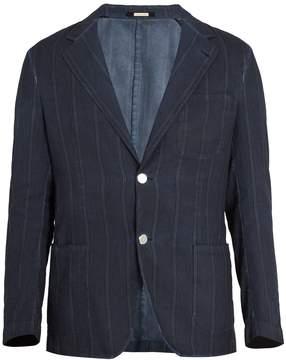 Massimo Alba Notch-lapel striped cotton blazer