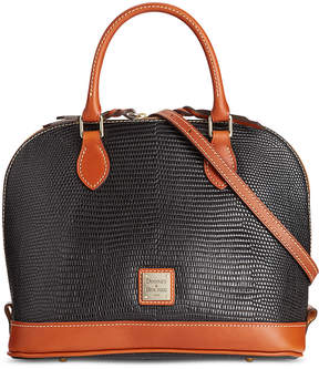Dooney & Bourke Lizard-Embossed Zip Zip Satchel, Created for Macy's - BLACK - STYLE