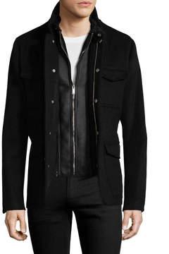 Karl Lagerfeld Men's Wool Military Jacket