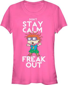 Fifth Sun Pink 'Freak Out' Rugrats Tee - Juniors