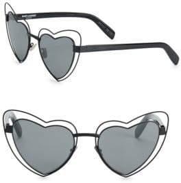 Saint Laurent SL 197 57MM Lou Lou Heart-Shaped Sunglasses