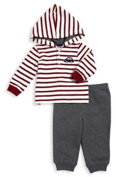 Little Me Baby Boy's Two-Piece Cotton Striped Hoodie and Jogger Pants Set