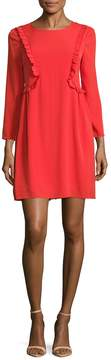 CeCe Women's Carly Ruffle Trim Shift Dress