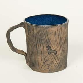 Blade + Blue Ceramic Faux Wood Dachshund Mug