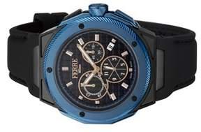 Ferré Milano Men's Swiss Made Swiss Quartz Black Rubber Strap Watch.