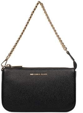 Michael Kors Black Hammered Leather Top Handle Bag - BLACK - STYLE