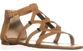 Bar III B35 Rodeo Strappy Flat Sandals, Cognac.