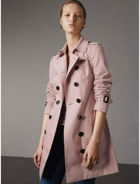 Burberry Cotton Gabardine Mid-length Trench Coat