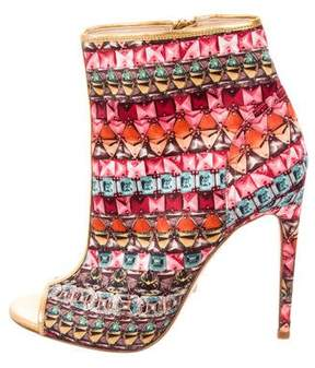 Jerome C. Rousseau Peep-Toe Ankle Boots w/ Tags