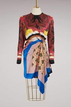 Etro Long-sleeved silk dress