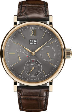 IWC IW516203 Portofino automatic 18K rose gold alligator leather strap watch