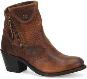 Sonora Rust Isabella Leather Bootie