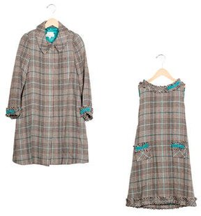 Helena Girls' Tweed A-Line Dress Set