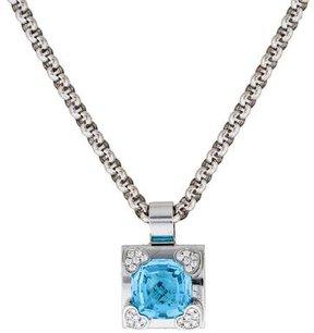 Chopard 18K Topaz and Diamond Pendant Necklace
