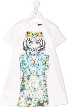 Roberto Cavalli tiger shift dress