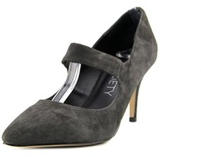 Sole Society Deven Women Pointed Toe Suede Gray Mary Janes.