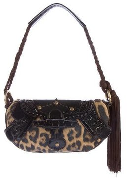 Roberto Cavalli Leopard Handle Bag