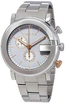 Gucci G Chronograph Silver Dial Men's Watch