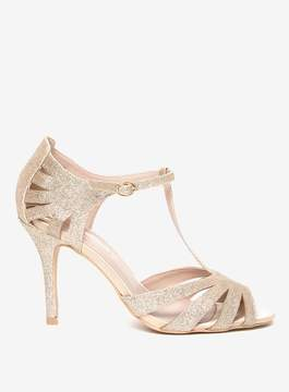 Dorothy Perkins Gold 'Beth' T-Bar Sandals