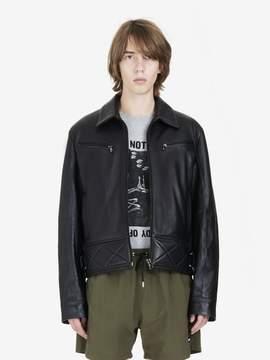 McQ Leather Bondage Biker Jacket