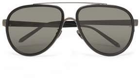 Linda Farrow Aviator-Style Acetate And Gunmetal-Tone Sunglasses