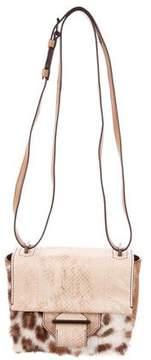 Reed Krakoff Fur-Trimmed Standard Mini Shoulder Bag