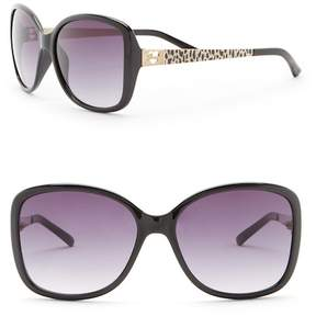 GUESS 58mm Butterfly Sunglasses