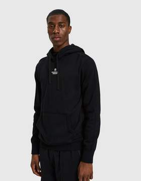 Reigning Champ Embroidered Logo Terry Pullover Hoodie in Black/White