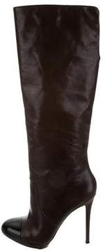 Brian Atwood Cap-Toe Knee-High Boots